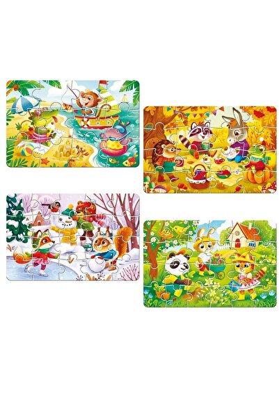 AyasEğiticiOyuncak Circle Toys Baby Puzzle 4 Mevsim 001