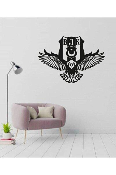 RetroLazer Beşiktaş Kartal Logosu Siyah Ahşap Lazer Tablo Mdf