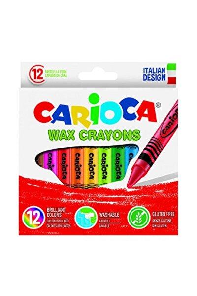 CARIOCA Wax Crayons Yıkanabilir Pastel Boya Kalemi 12'li