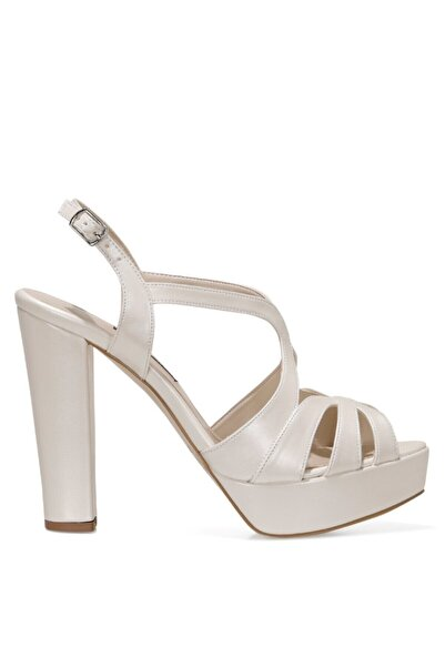 Nine West SINDY 1FX Beyaz Kadın Topuklu Sandalet 101031066
