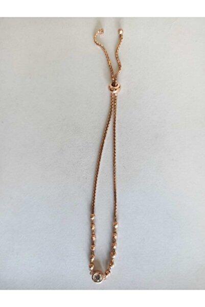 Swarovski Kadın 925 Ayar Gümüş Zirkon Taşlı Boncuk Desenli Bileklik