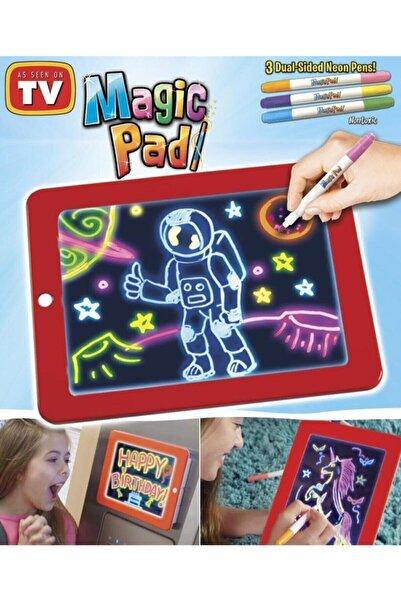 WoxoTedarik Magic Pad Yazı Çizim Tahtası Magic Pad Resim Şekil Tablet Tipi Işıklı Ledli