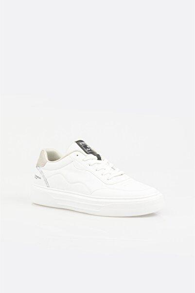 Avva Erkek Beyaz Dokulu Suni Deri Spor Ayakkabı A11y8022