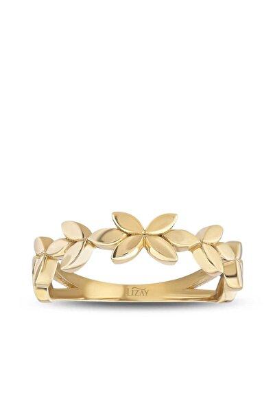 Lizay Pırlanta Kadın Altın Çiçek Yüzük