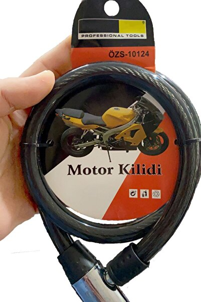 Mobee Özs-10124 Motor Ve Bisiklet Kilidi Dayanıklı Malzeme, Tam Koruma Siyah