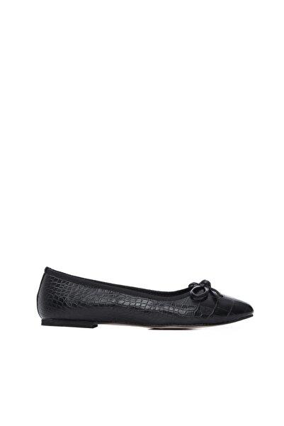 KEMAL TANCA Kadın Siyah Babet Ayakkabı