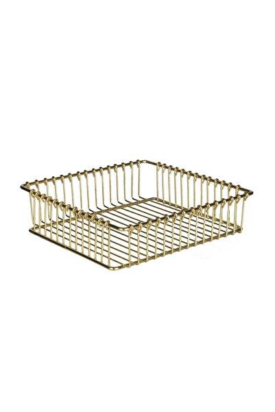 Aşan Home Asn-052-2 Metal 20*20 Peçetelik Kap.gold Kap.