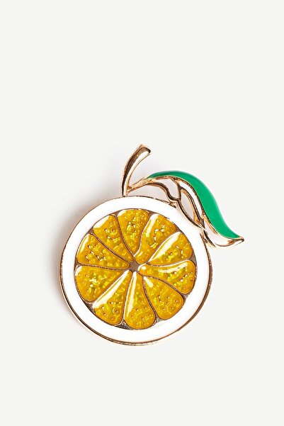 Yargıcı Sarı Limon Formlu Broş