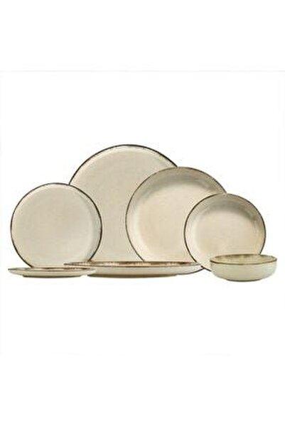 Porselen Mood Tarçın 12 Kişilik 48 Parça Yuvarlak Yemek Takımı