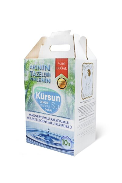 Kürsun Su Doğal Zengin Mineralli Su 10 lt