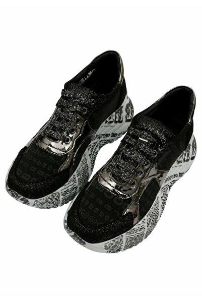 Dogo Kadın Kalın Taban Günlük Rahat Sneaker High Top Sneakers Black