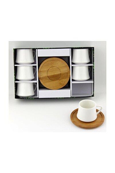 Lavin Porselen Tabak Kahve Fincan Takımı Yaldızlı