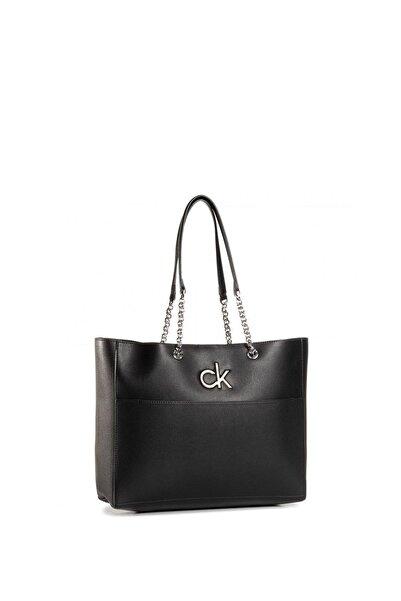 Calvin Klein Black Kadın Re-lock Shopper Kadın Omuz Çantası K60k606676