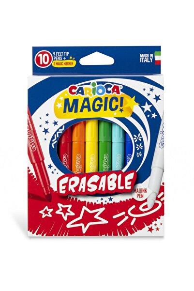 CARIOCA Silinebilen Sihirli Keçeli Boya Kalemi  9 Renk+1 Düzeltici Beyaz Kalem