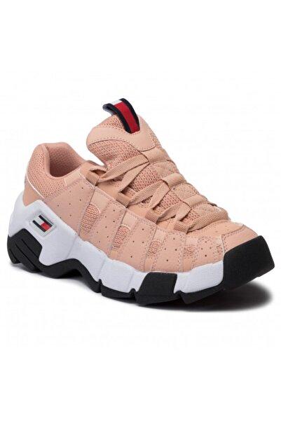 Tommy Hilfiger Kadın Pembe Heritage Chunky Spor Ayakkabı En0en00669
