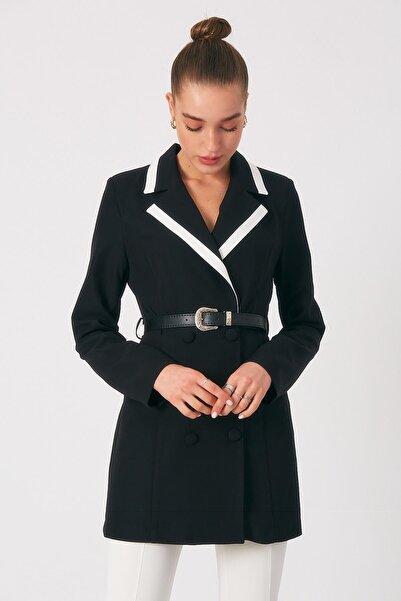 Robin Kadın Süs Cepli Kemer Detaylı Ceket