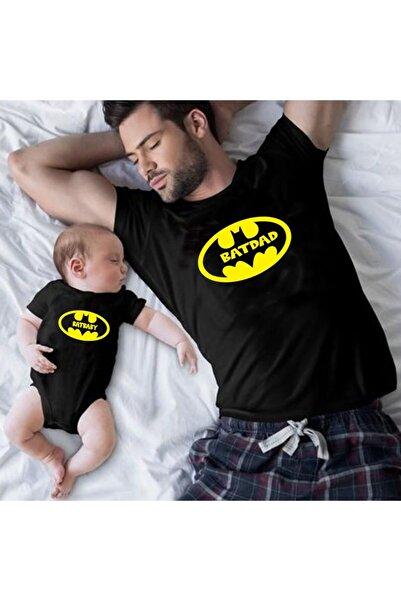 venüsdijital Batdad Batbaby Tasarım Siyah Tshirt Zıbın (baba Oğul Kombin Yapılabilir Fiyatlar Ayrı Ayrıdır)