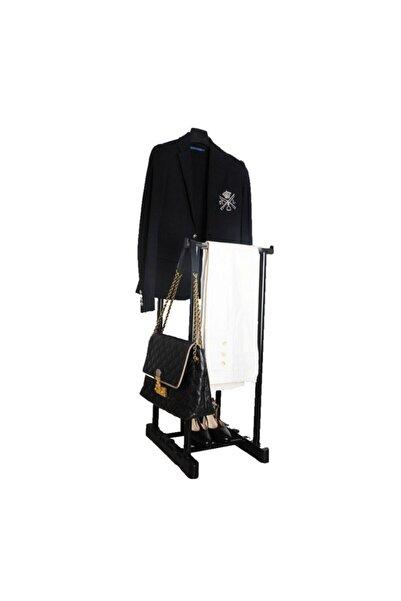 Lerato Dilsiz Uşak Elbise Askısı Siyah - Giysilerinizin Yüksekliğine Göre Ayarlanabilir.