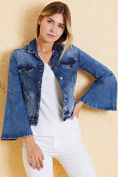 Twister Jeans Kadın Slim Fit Ceket Tally J20-01 01