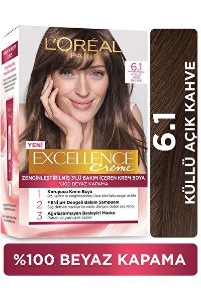 L'Oreal Paris Excellence Creme Saç Boyası - 6.1 Küllü Açık Kahve