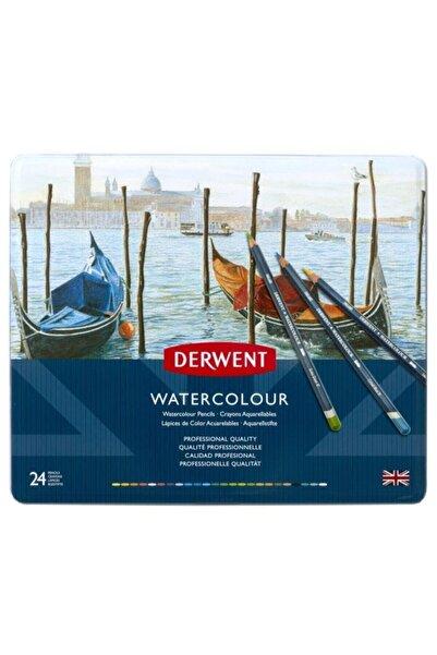 Derwent Watercolour 6,9 Mm Sulu Kuru Boya Kalemi Metal Kutu 24 Renk Dw32883