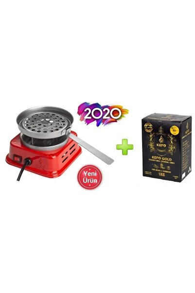 Kefo Mini Kare Elektrikli Ocak Ve 1 Kg Gold Nargile Kömürü