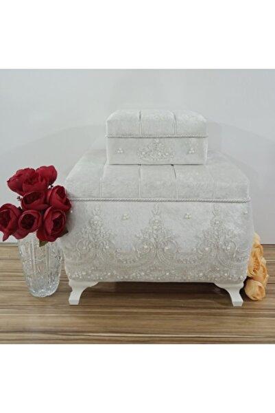 Sonem Çeyiz Söz Nişan Bohça Gelin Düğün Çeyiz Sandık 2li 0320b