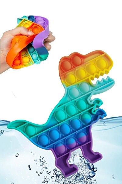 RoseRoi Pop It Push Bubble Fidget Özel Pop Duyusal Oyuncak Zihinsel Stres Oyunu Popit Gökkuşağı Dinazor