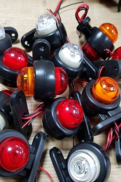 Sedef Mini Takoz Led Lamba 12-24 Volt Sarı Kırmızı 5 Adet