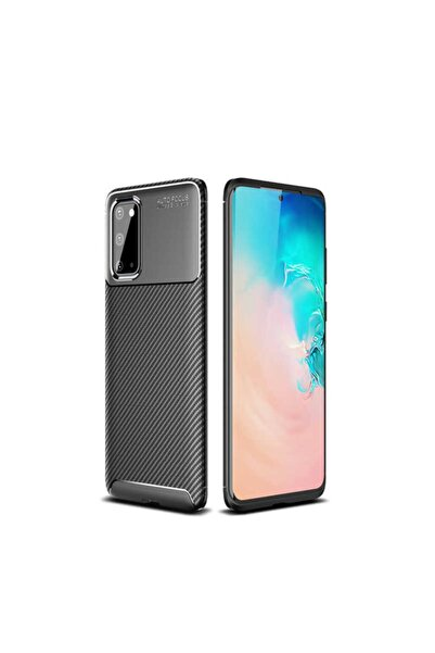 Samsung Galaxy S20 Plus Kılıf Rugged Armor Karbon Desenli Yüksek Kalite Silikon Negro