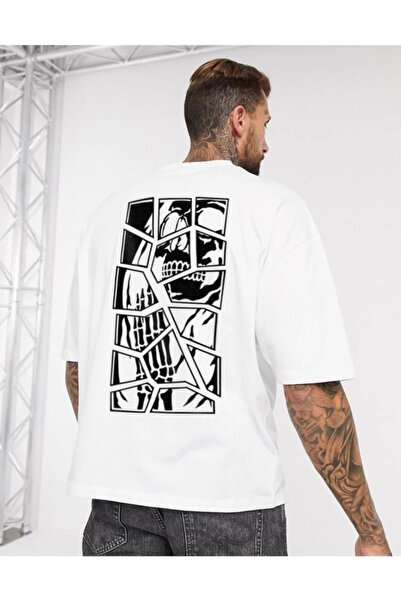Oksit Chapter Skullcracked Unisex Oversize Tshirt