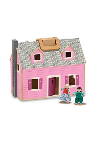 Melissa & Doug Melissa&Doug Ahşap Taşınabilir Küçük Mobilyalı Ev /