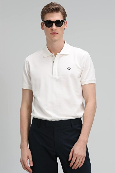 Lufian Jons Spor Polo T- Shirt Kırık Beyaz