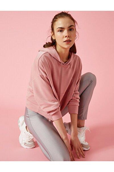 Koton Kadın Pembe Respect Life Yasama Saygi Kapüsonlu Sweatshirt