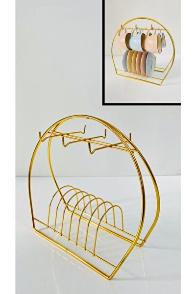ceohome Gold Metal Fincan Askısı