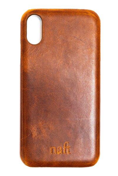 naft Apple Iphone X Max - Gerçek Deri Kılıf - Kahverengi