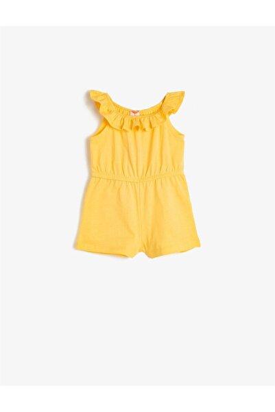 Koton Sarı Kız Bebek Tulum