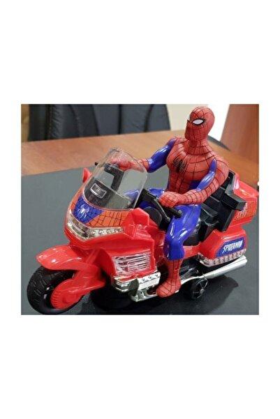 Canda Oyuncak Örümcek Adam Spiderman Robot Işıklı Sesli Motor Oyuncak