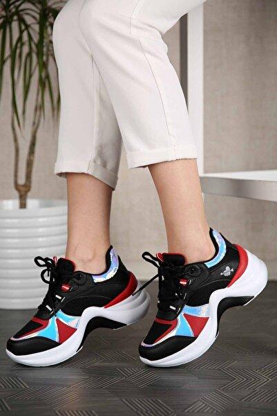 Twingo Kadın Siyah Kırmızı Sneaker