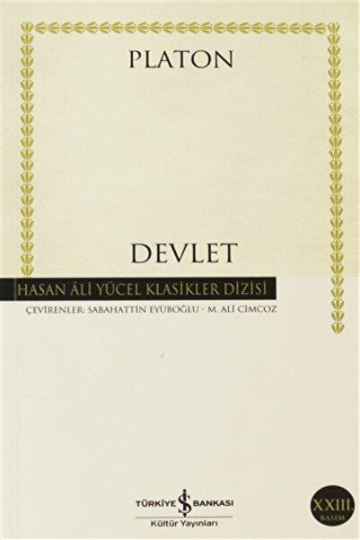 TÜRKİYE İŞ BANKASI KÜLTÜR YAYINLARI Devlet - Hasan Ali Yücel Klasikleri - Platon (eflatun)