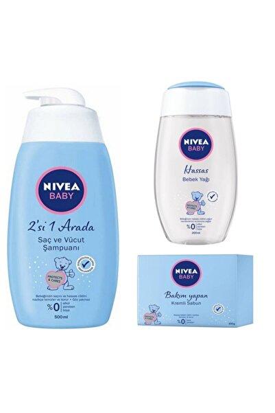 Nivea Set 500 Ml Şampuan + 200 Ml Bebek Yağı + 100 Gr Kremli Sabun