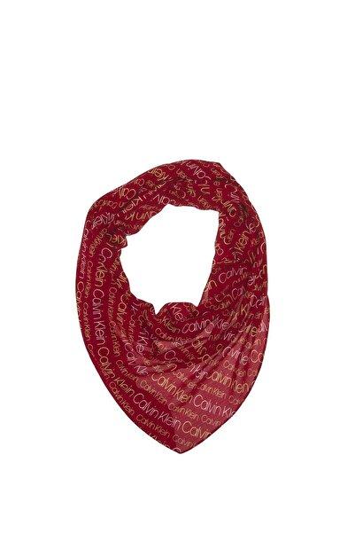 Calvin Klein Dark Red Kadın Logo Mini Şal K60k604362