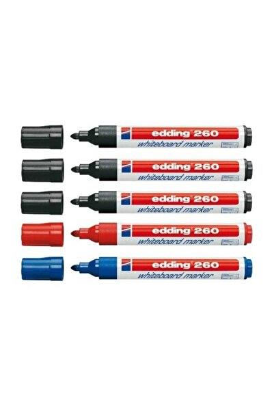 Edding 260 Beyaz Tahta Kalemi 3 Siyah 1 Mavi 1 Kırmızı
