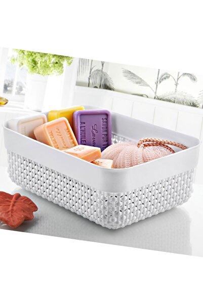 FERHOME Banyo Mutfak Sepeti Ekmek Baharat Havlu Makyaj Çok Amaçlı Düzenleyici Sepet