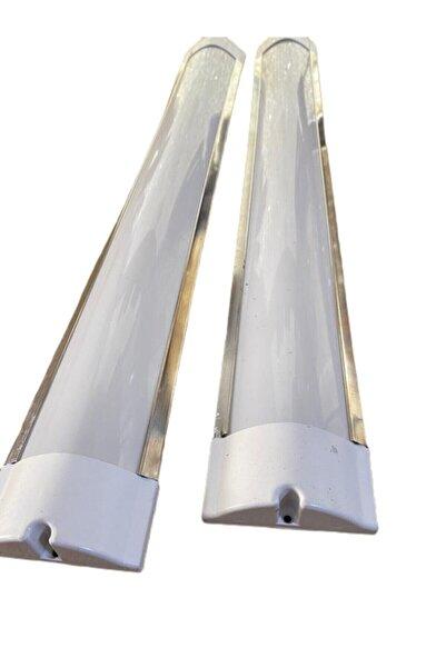 VAGOLED 120 Cm 40 Watt Led Floresan Yatay Bant Armatür - Montaj Kolaylığı Vidalama Delikli Yan Kapaklar
