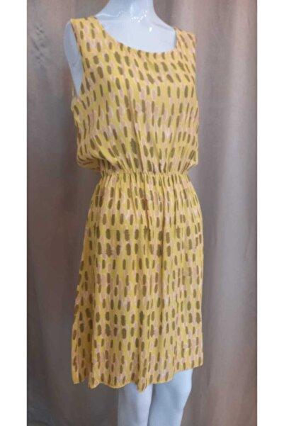 Journey Kadın Sarı Kalın Askılı Elbise