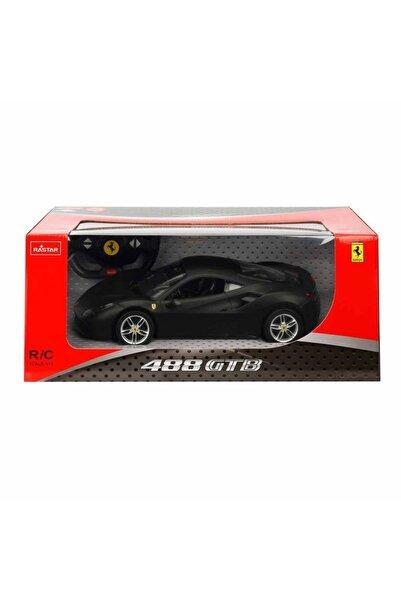 Ferrari 488 Gtb Mat Black Özel Seri Uzaktan Kumandalı Işıklı Araba - 33cm