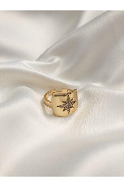 The Y Jewelry Zirkon Taşlı Kutup Yıldızı Yüzük -ayarlanabilir