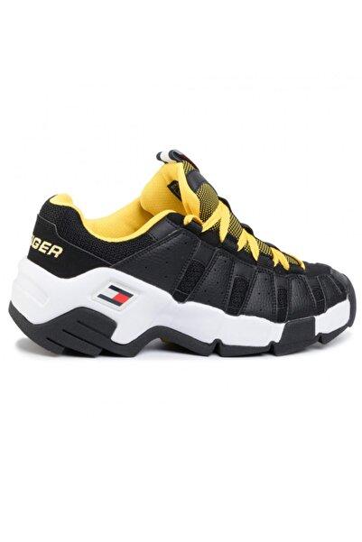 Tommy Hilfiger Erkek Siyah Tommy Jeans Heritage Chunky Sneaker Em0em00342 U005145