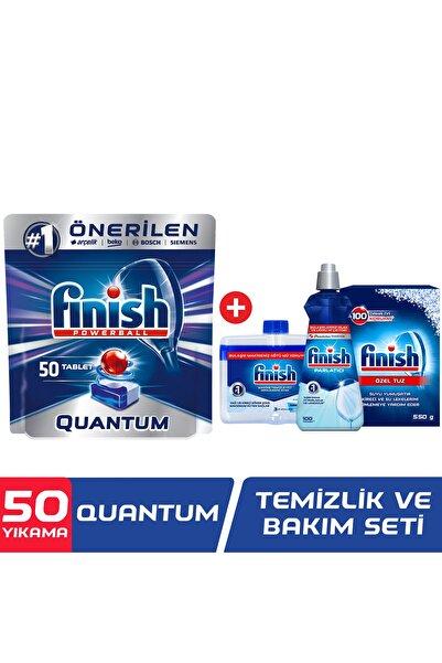 Finish Quantum 50 Tablet Bulaşık Makinesi Deterjanı + Temizlik ve Bakım Seti